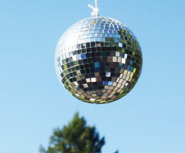 disco ball and tree