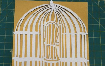 Silver Birdcage, papercut