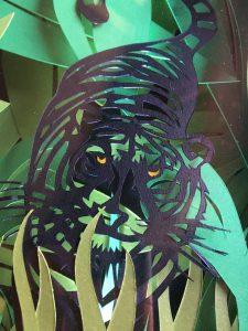 Tiger papercut